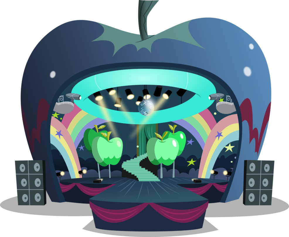 Apple butter festival clipart vector freeuse Apple concert stage by BlueThunder66 | MLP & EQG objects and ... vector freeuse
