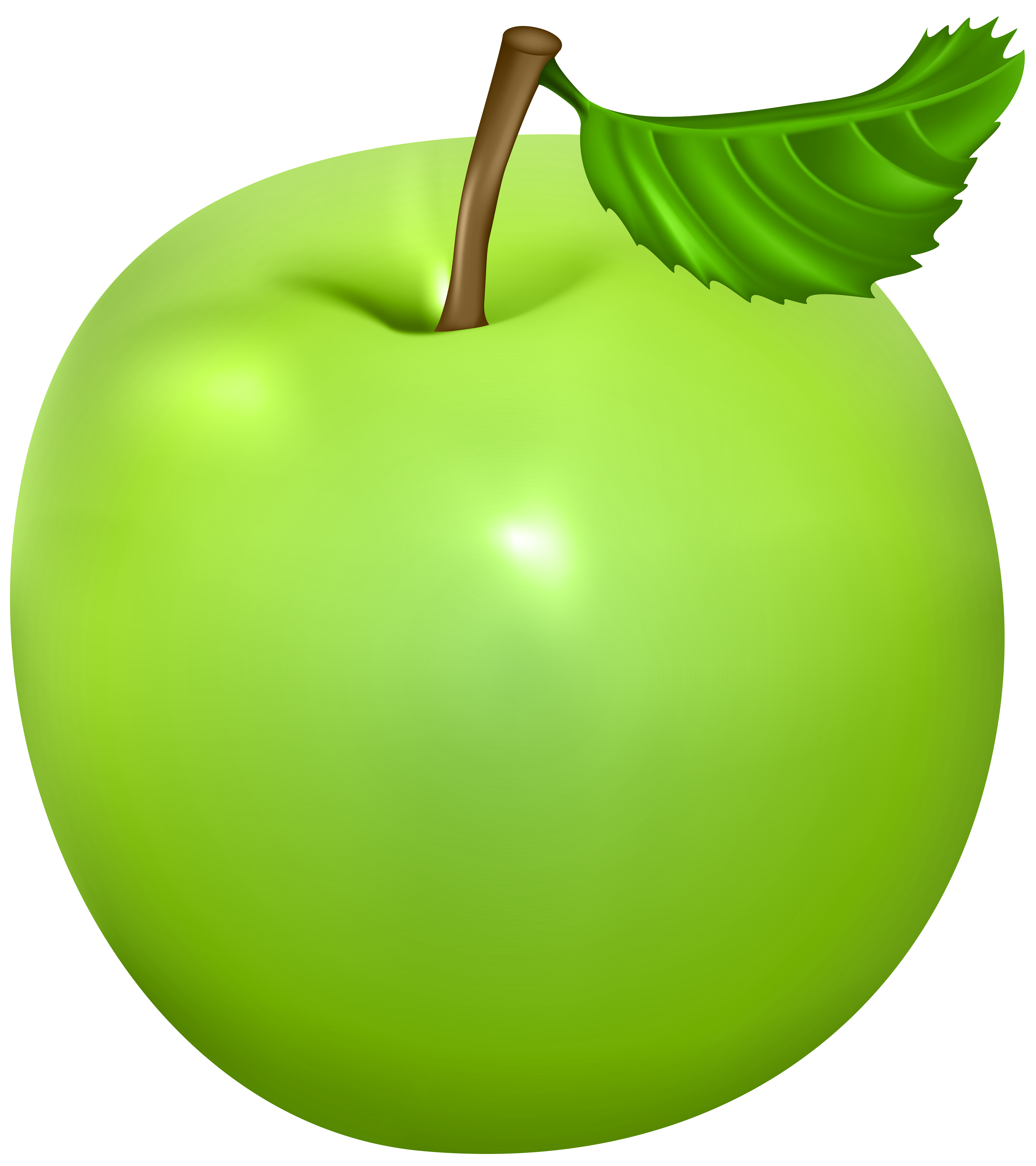 Green apple clipart png jpg black and white library Green Apple PNG Clip Art Image - Best WEB Clipart jpg black and white library