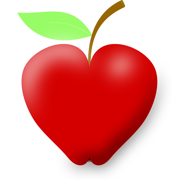 Apple on desk clipart graphic free download Heart-shaped apple | Fun, Beautiful & Interesting... | Pinterest ... graphic free download