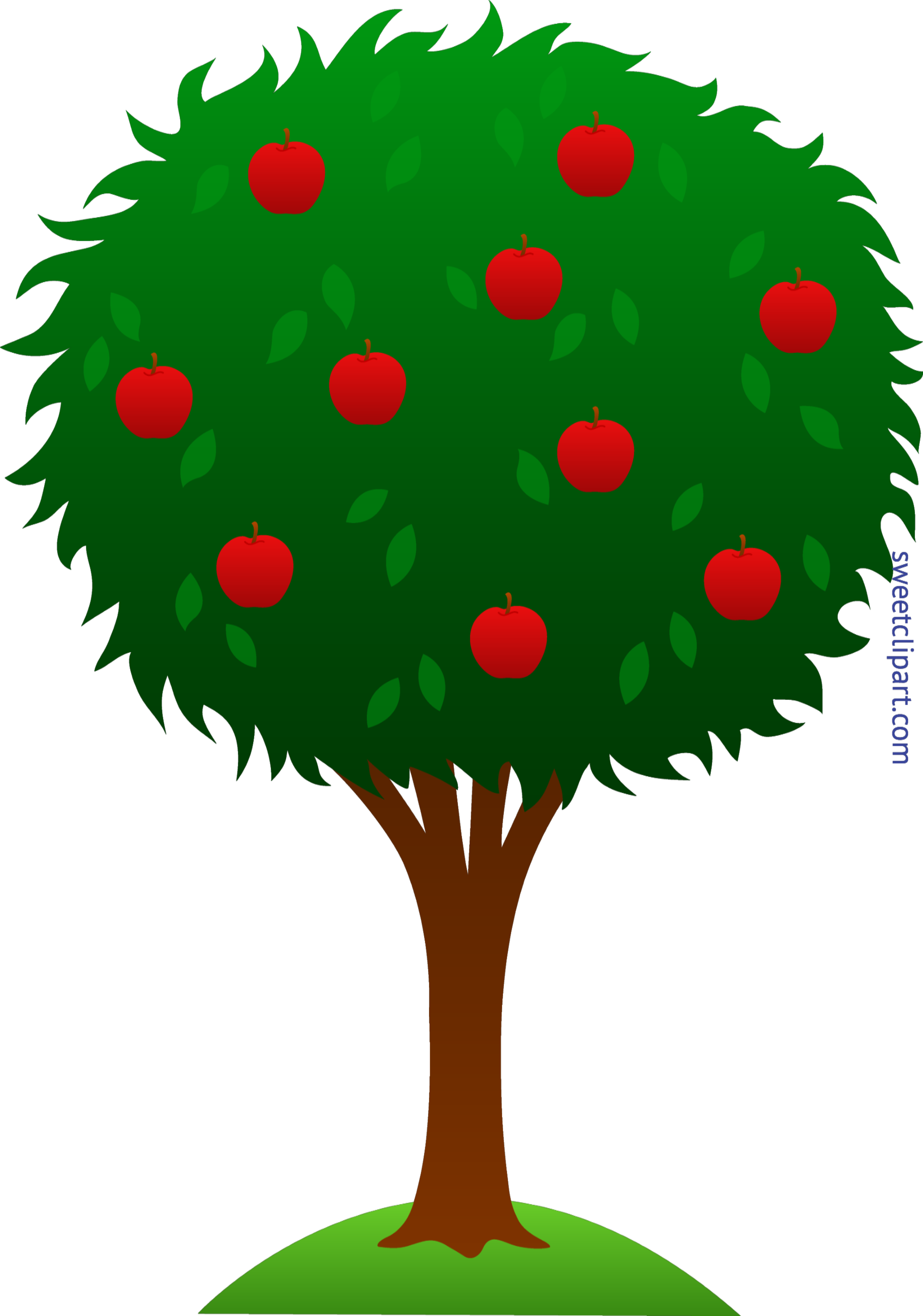 Clipart apple green image royalty free library Apple Tree Clip Art - Sweet Clip Art image royalty free library