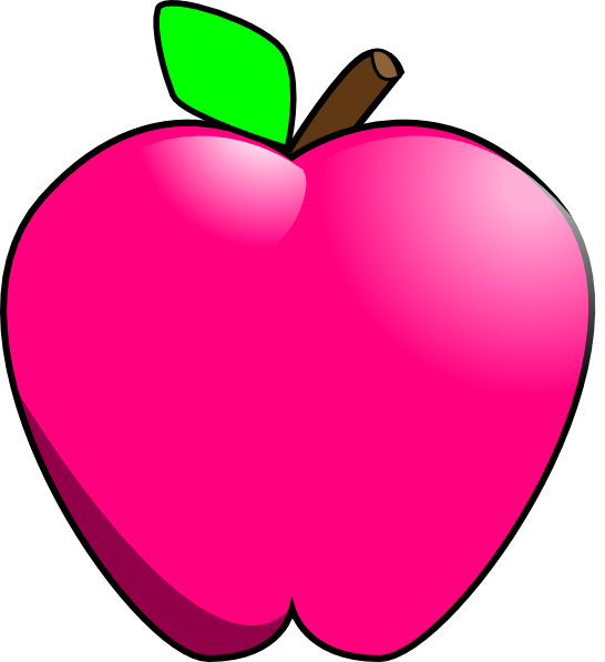 Apple clipart 6 jpg black and white Magenta Apple Clip Art at Clker.com - vector clip art online ... jpg black and white