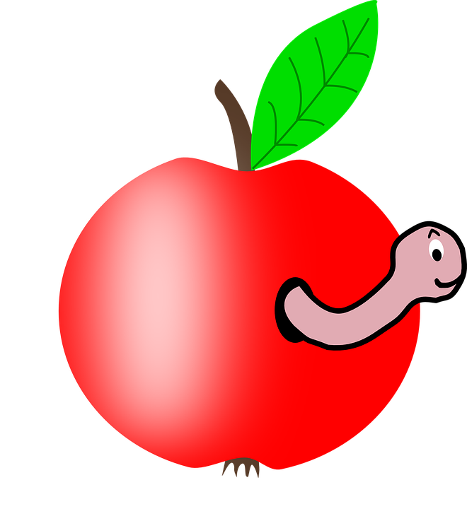 Apple center a clipart picture Music Medley: Worm in My Apple - Confetti Park picture