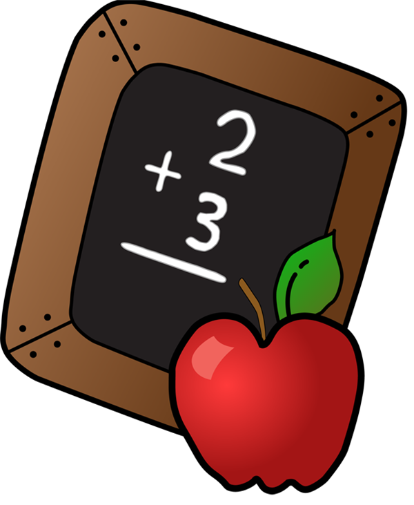 Apple clipart chalkboard image black and white library Johnson, Kimberly / Schedule image black and white library