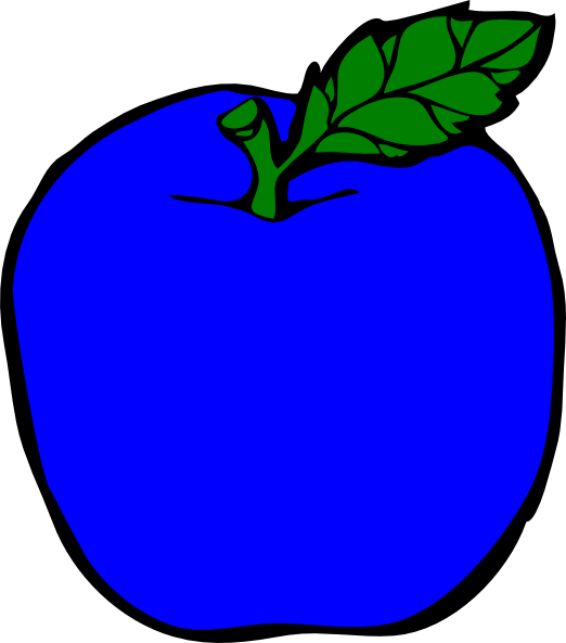 Apple chips clipart picture transparent library Dark Blue Apple Clip Art at Clker.com - vector clip art online ... picture transparent library