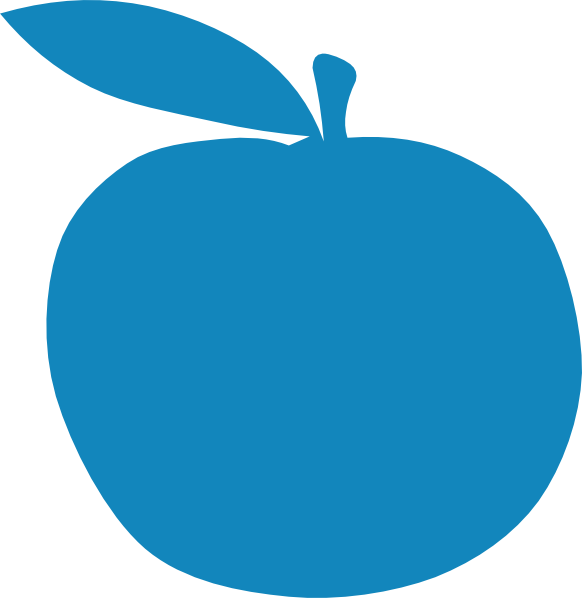 Teal apple clipart picture library Apple Clip Art at Clker.com - vector clip art online, royalty free ... picture library