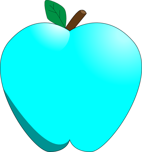 Teal apple clipart picture transparent library Blue Apple Clip Art at Clker.com - vector clip art online, royalty ... picture transparent library