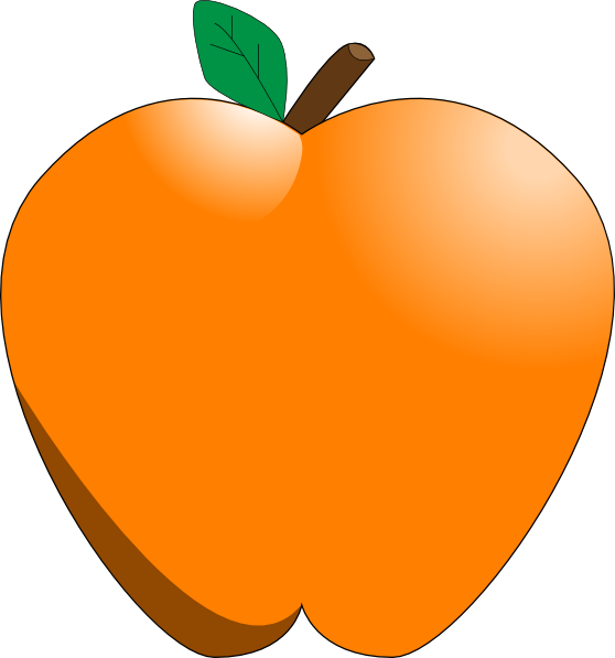Apple trouble clipart jpg free library Orange Apple Clip Art at Clker.com - vector clip art online, royalty ... jpg free library