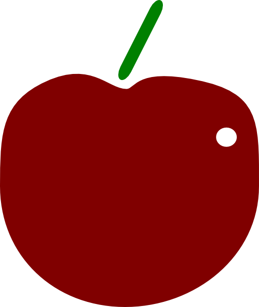 Apple clipart 6 graphic black and white Red Apple Clipart | i2Clipart - Royalty Free Public Domain Clipart graphic black and white