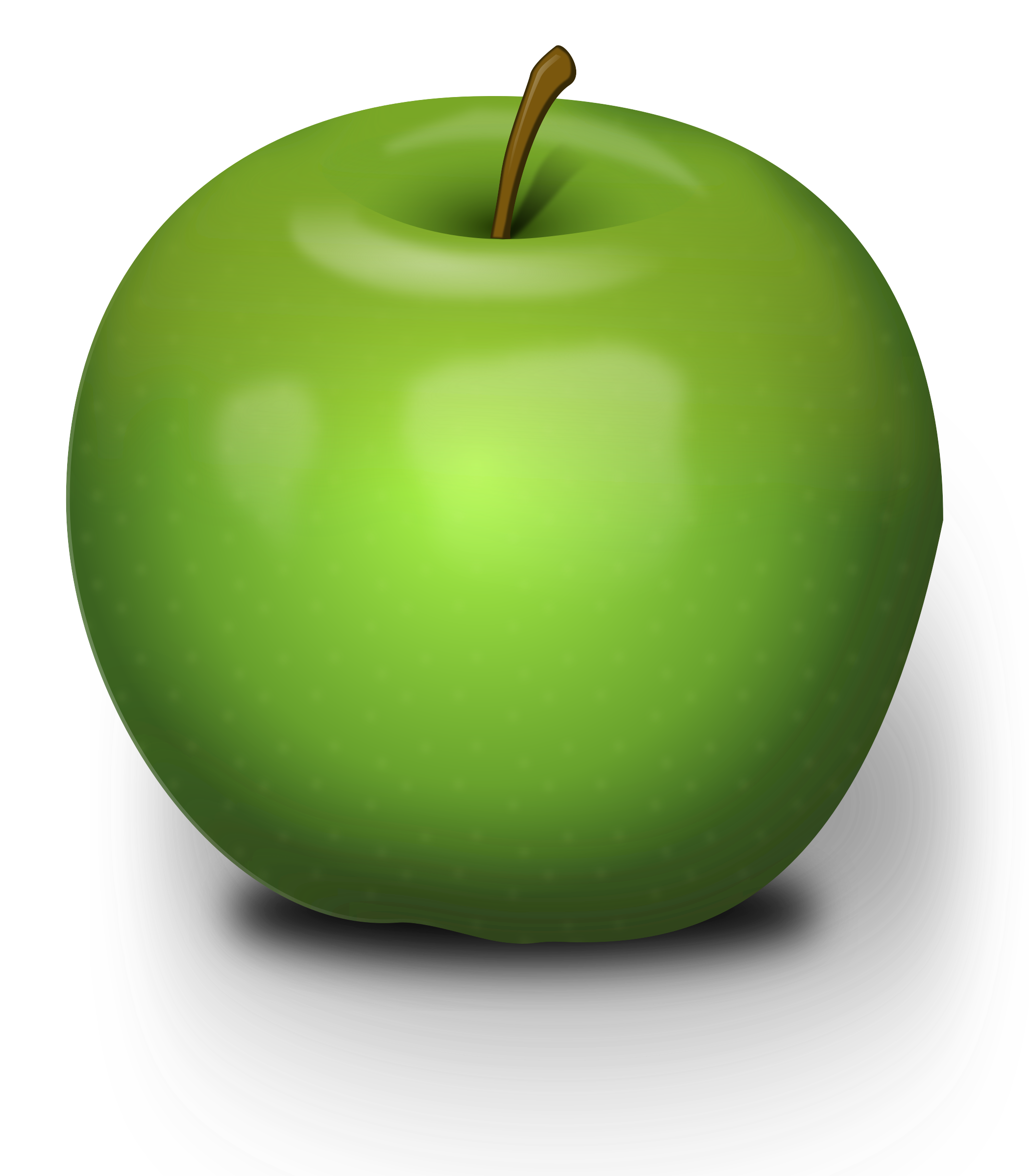 Inside apple clipart graphic royalty free Clipart - Photorealistic Green Apple graphic royalty free