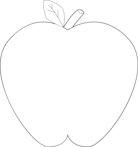 Teal apple clipart png free download Apple Clipart Black And White | Clipart Panda - Free Clipart Images png free download