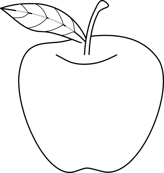 Apple outline clipart image freeuse library Apple Outline Clip Art at Clker.com - vector clip art online ... image freeuse library