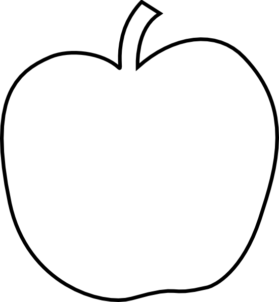 Apple clipart black and white outline clipart black and white library Plain White Apple Clip Art at Clker.com - vector clip art online ... clipart black and white library