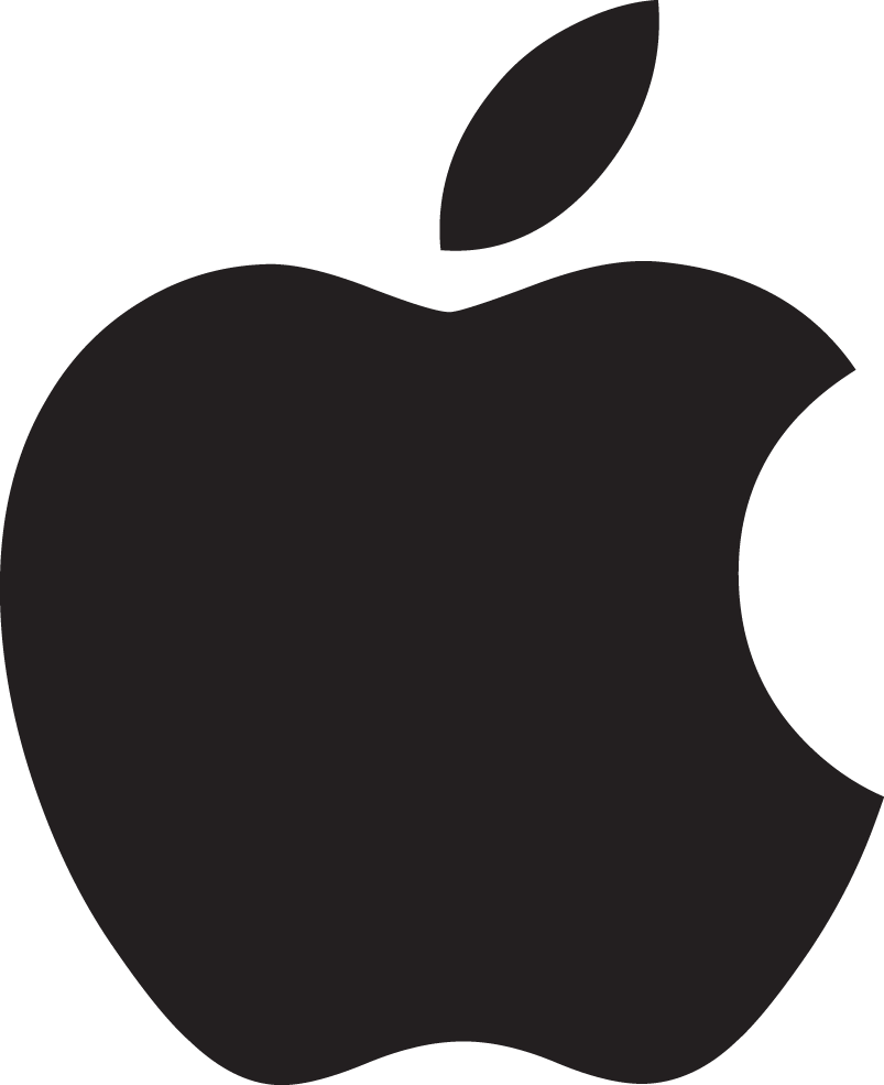 Apple clipart black and white png image free stock Apple logo PNG images free download image free stock