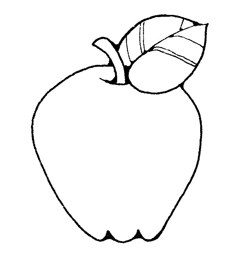Apple clipart blackline jpg download Apple Clipart Black And White | Clipart Panda - Free Clipart Images jpg download