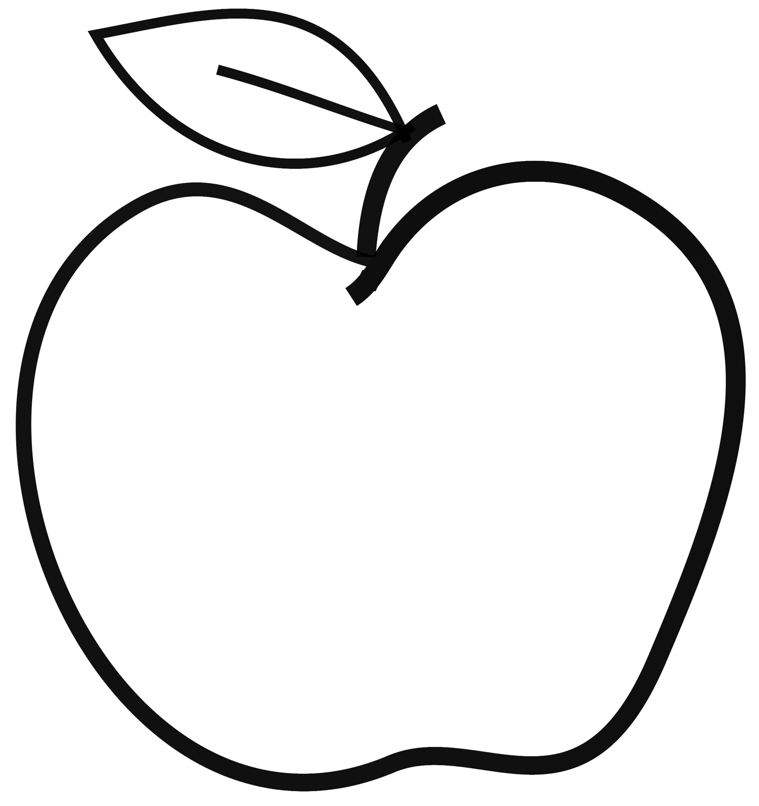 Apple clipart blackline. Clipartfest psimple black line