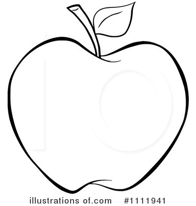 Free black and white. Apple clipart blackline