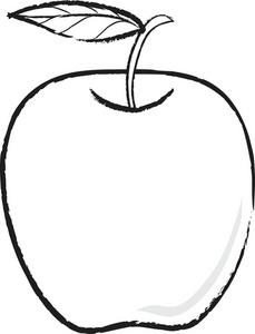 Apple clipart blackline transparent stock Apple Clipart Black And White | Clipart Panda - Free Clipart Images transparent stock