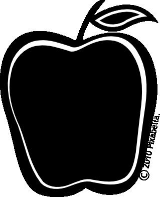 Apple clipart blackline clip transparent download Apple Black And White Clipart - Clipart Kid clip transparent download