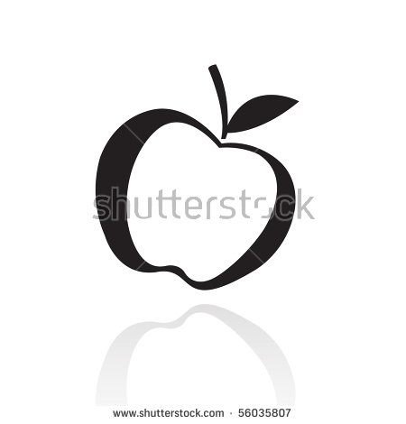 Apple clipart blackline clip art royalty free library Vector Images, Illustrations and Cliparts: Black line art apple ... clip art royalty free library