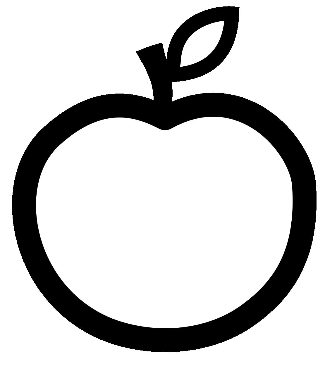 Apple clipart blackline clip library Apple clipart blackline - ClipartFest clip library