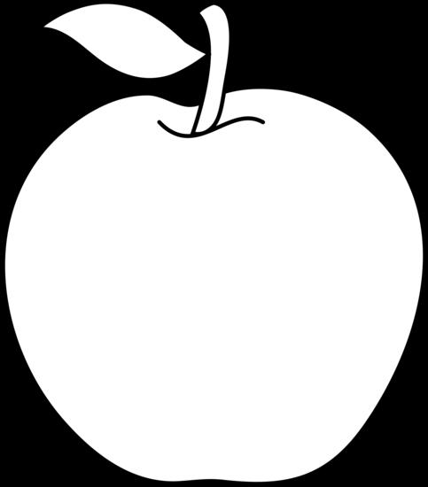 Apple clipart blackline svg library Fruit Black And White Clipart - Clipart Kid svg library