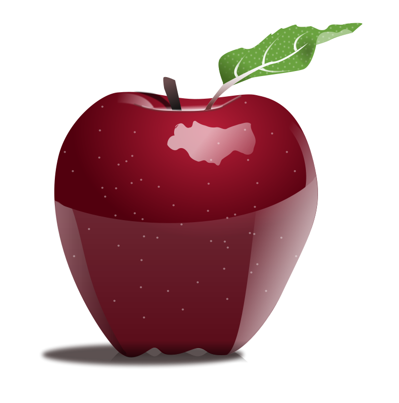 Red apple clipart no background png black and white library Collection of Apple Cliparts Background | Buy any image and use it ... png black and white library