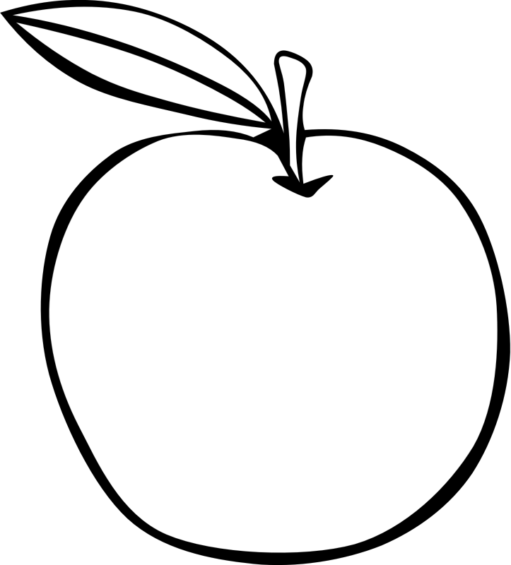 Clipart of apple black and white clip art freeuse library Clipart - Simple Fruit Apple clip art freeuse library