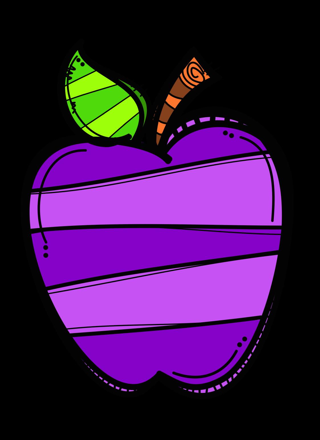Apple clipart dj inkers library ✿*UY..QUE TE COMO*✿* | MELONHEADZ | Pinterest | Clip art, Dj ... library