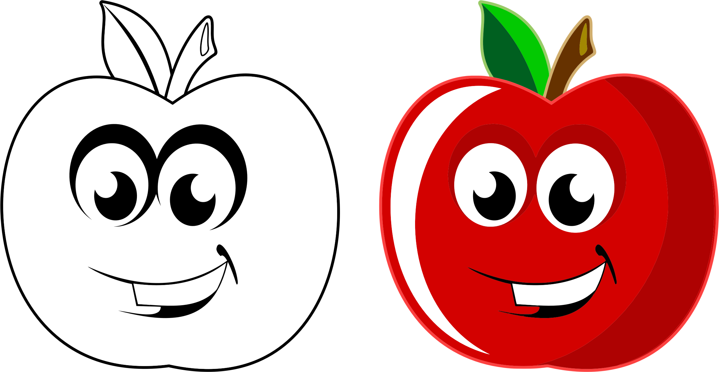 Apple clipart with face banner freeuse stock Clipart - Anthropomorphic Apple banner freeuse stock