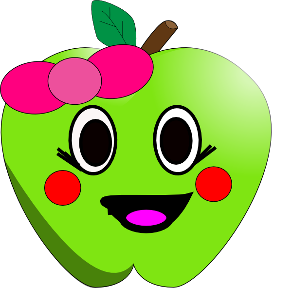 Apple clipart with face clip download Happy Apple Clip Art at Clker.com - vector clip art online, royalty ... clip download