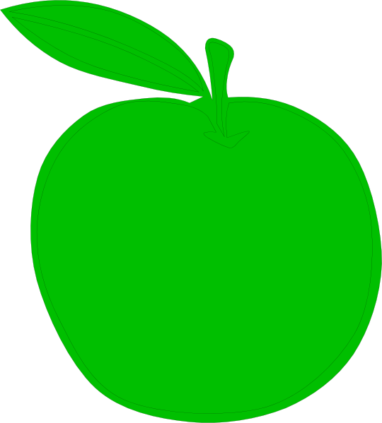 Solid green apple clipart jpg black and white Green Apple Clipart - Free Clip Art - Clipart Bay jpg black and white