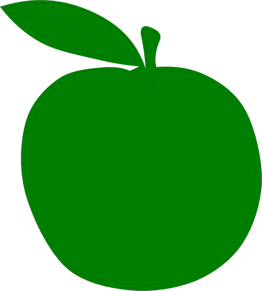 Green Apple Clip Art at Clker.com - vector clip art online, royalty ... graphic transparent library