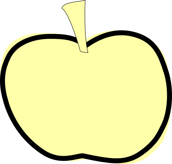 Black apple clipart picture transparent library Golden Apple Clip Art at Clker.com - vector clip art online, royalty ... picture transparent library