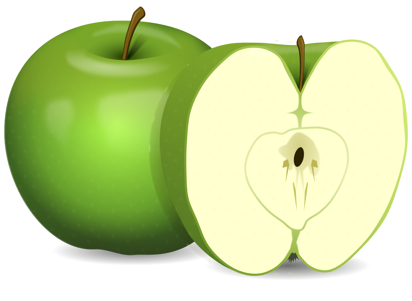Apple clipart green banner royalty free library Green Apple's PNG Image - PurePNG | Free transparent CC0 PNG Image ... banner royalty free library