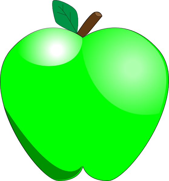 Solid green apple clipart royalty free library Green Apple Clipart | Clipart Panda - Free Clipart Images royalty free library