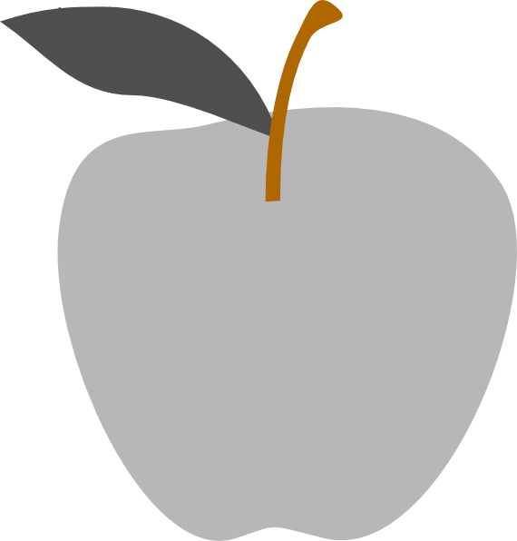 Solid green apple clipart jpg library stock Gray Apple Edited Clip Art at Clker.com - vector clip art online ... jpg library stock