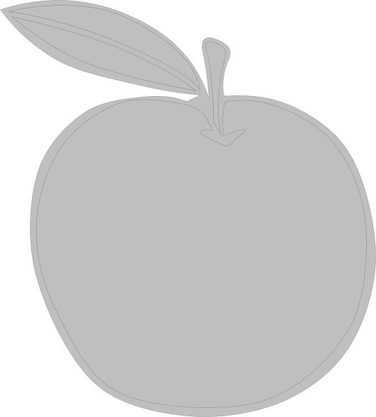 Apple clipart greyscale image free library Gray Apple Ever Clip Art at Clker.com - vector clip art online ... image free library