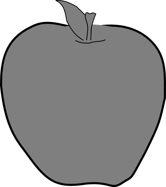 Apple clipart greyscale jpg black and white stock Apple Grey Clip Art at Clker.com - vector clip art online, royalty ... jpg black and white stock