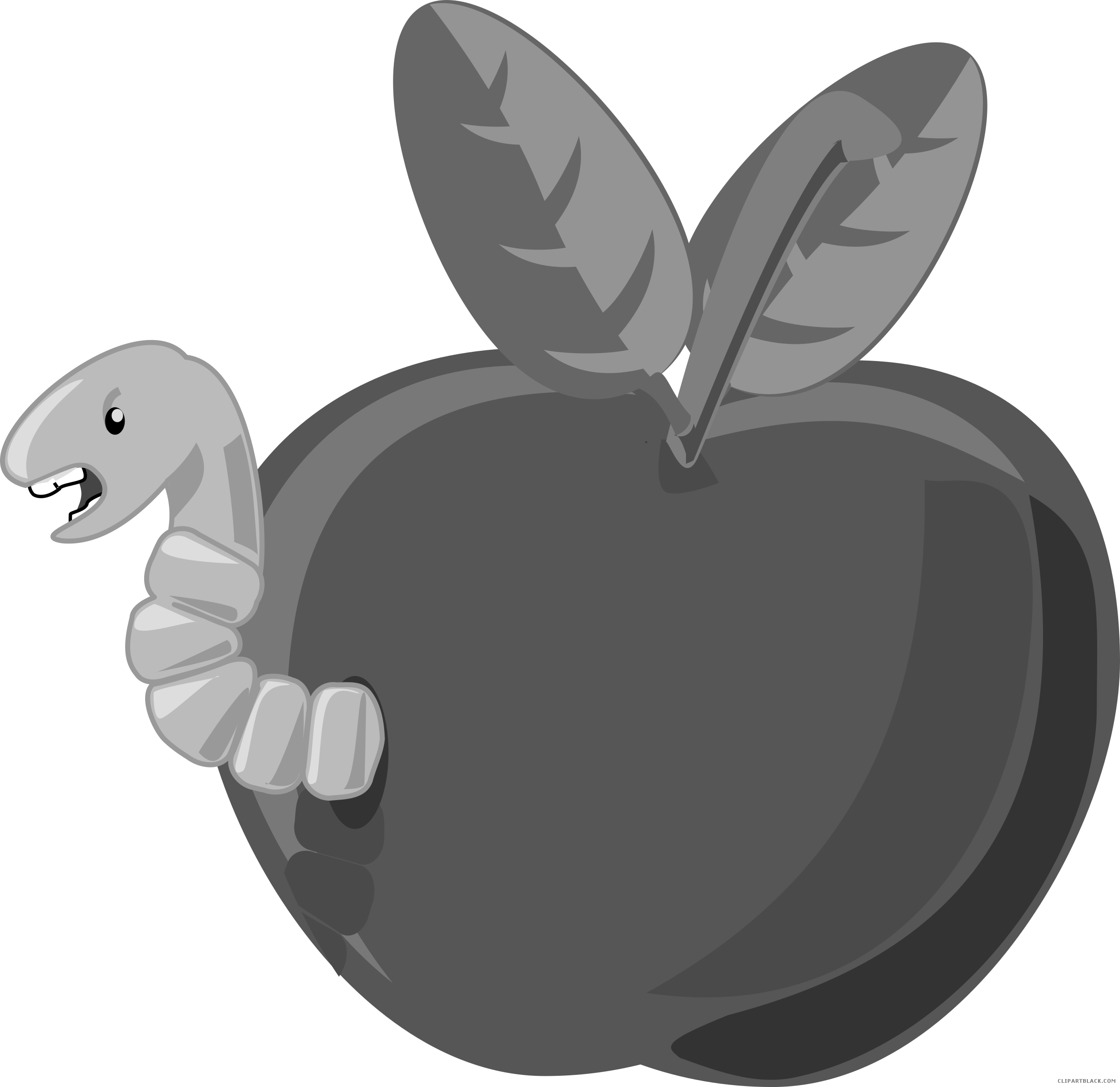 Apple in a worm black and white clipart clip art royalty free download Worm - Page 6 of 7 - ClipartBlack.com clip art royalty free download