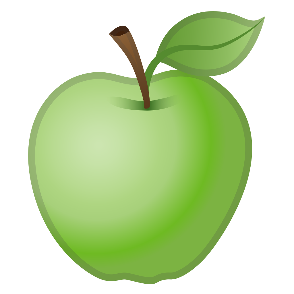 Sweet green apple vector clipart image free download Green apple Icon | Noto Emoji Food Drink Iconset | Google image free download