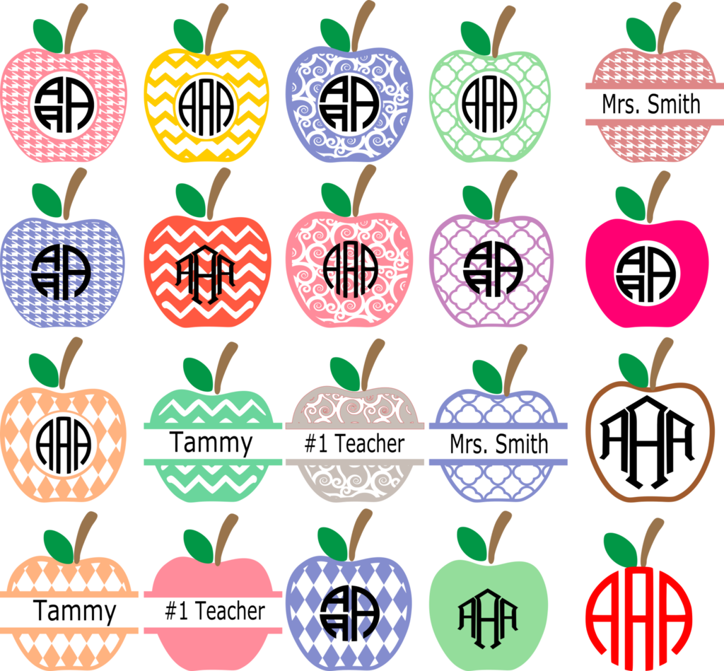 Apple monogram clipart picture library Apple Monogram Frames | svg files | Pinterest | Monograms, Cricut ... picture library