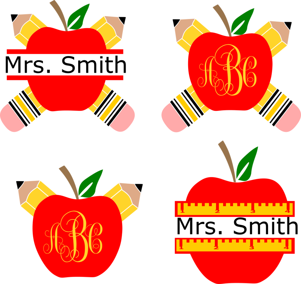 Apple clipart monogram banner stock Apple Outline Clip Art - Blueridge Wallpapers banner stock