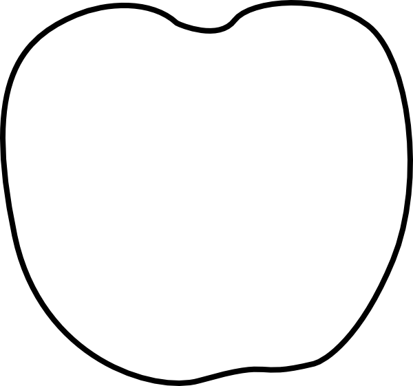 Apple slice clipart black and white banner free library Apple Stem And Leaf Clipart & Apple Stem And Leaf Clip Art Images ... banner free library