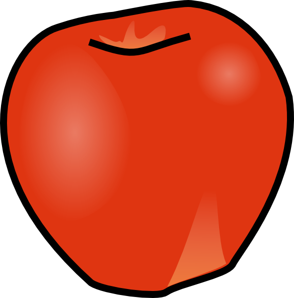 Apple sstem clipart vector royalty free library Apple No Stem Clip Art at Clker.com - vector clip art online ... vector royalty free library
