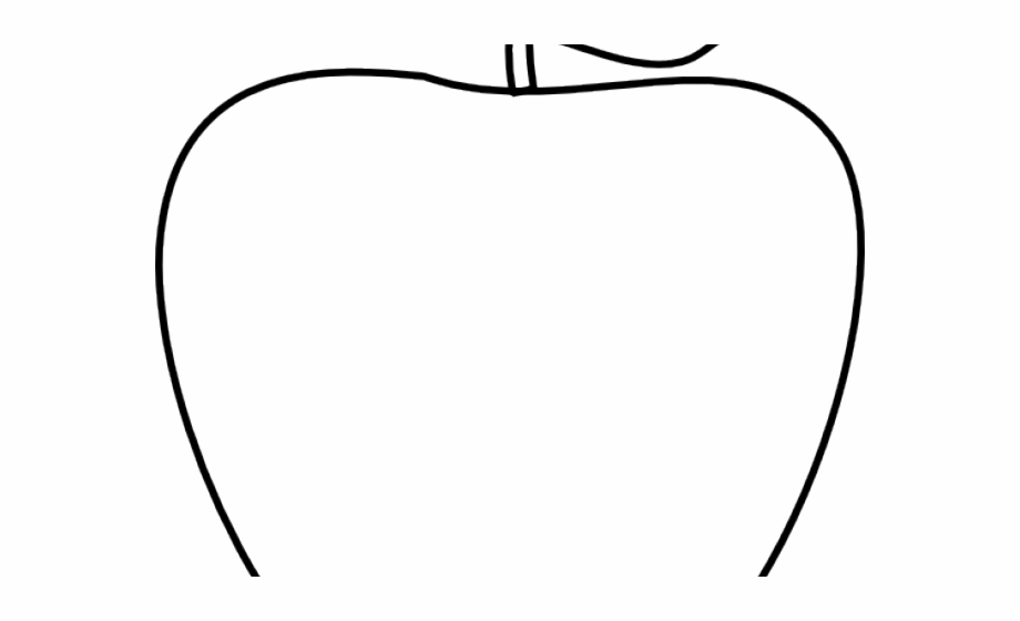 Apple clipart outline while png free download Apple Clipart Outline - Line Art Free PNG Images & Clipart Download ... png free download