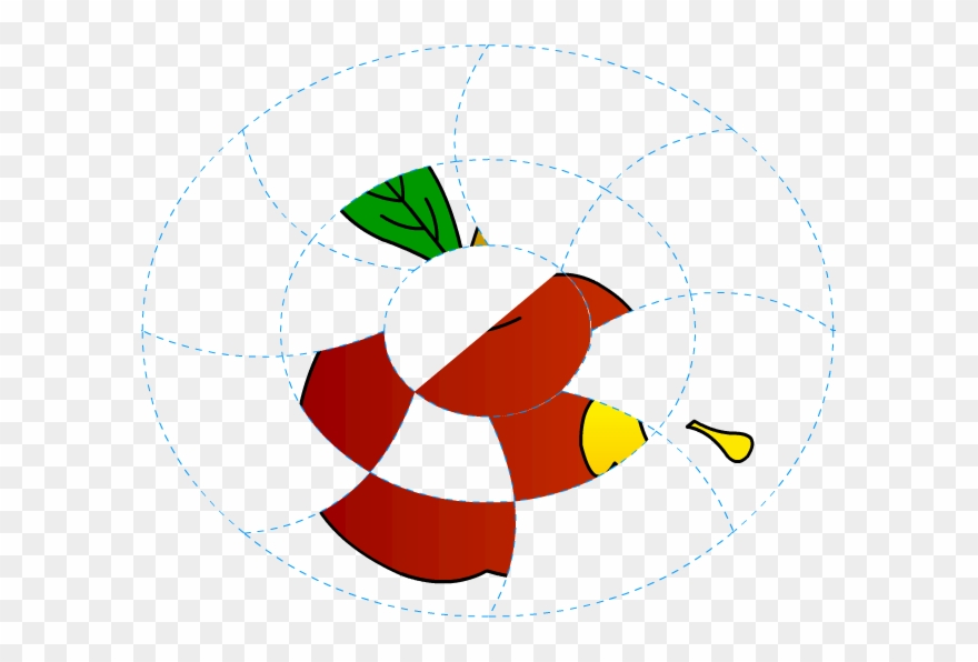 Apple clipart parts svg free stock 13 Apple Coloring Pages With Paint Missing Parts Activity - Circle ... svg free stock