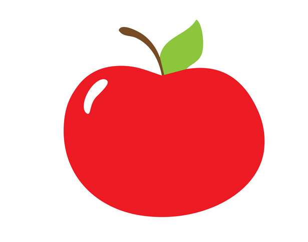 Apple clipart public domain image black and white download Red Apple Clipart Free Stock Photo - Public Domain Pictures image black and white download