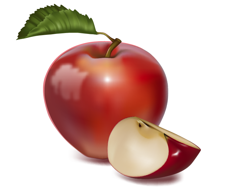 Apple clipart real. Clipartfest fruit