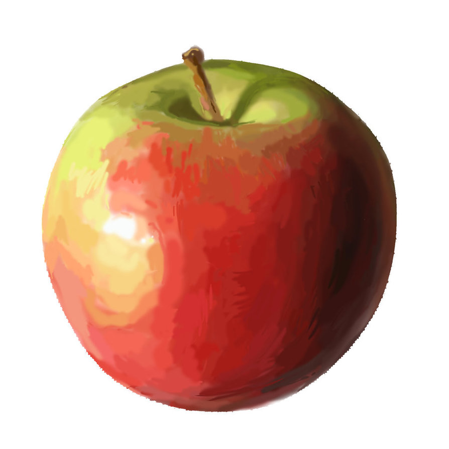 First wacom painting by. Apple clipart real