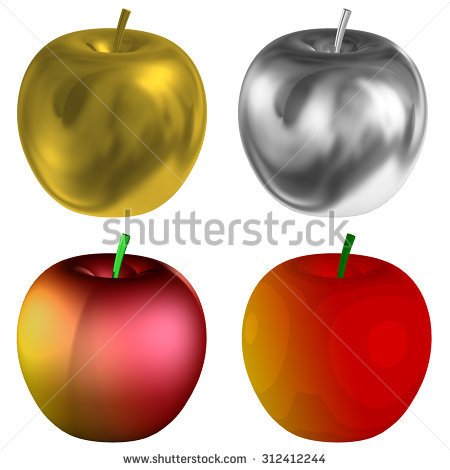 Apple clipart real png royalty free Gold Apple Stock Photos, Royalty-Free Images & Vectors - Shutterstock png royalty free